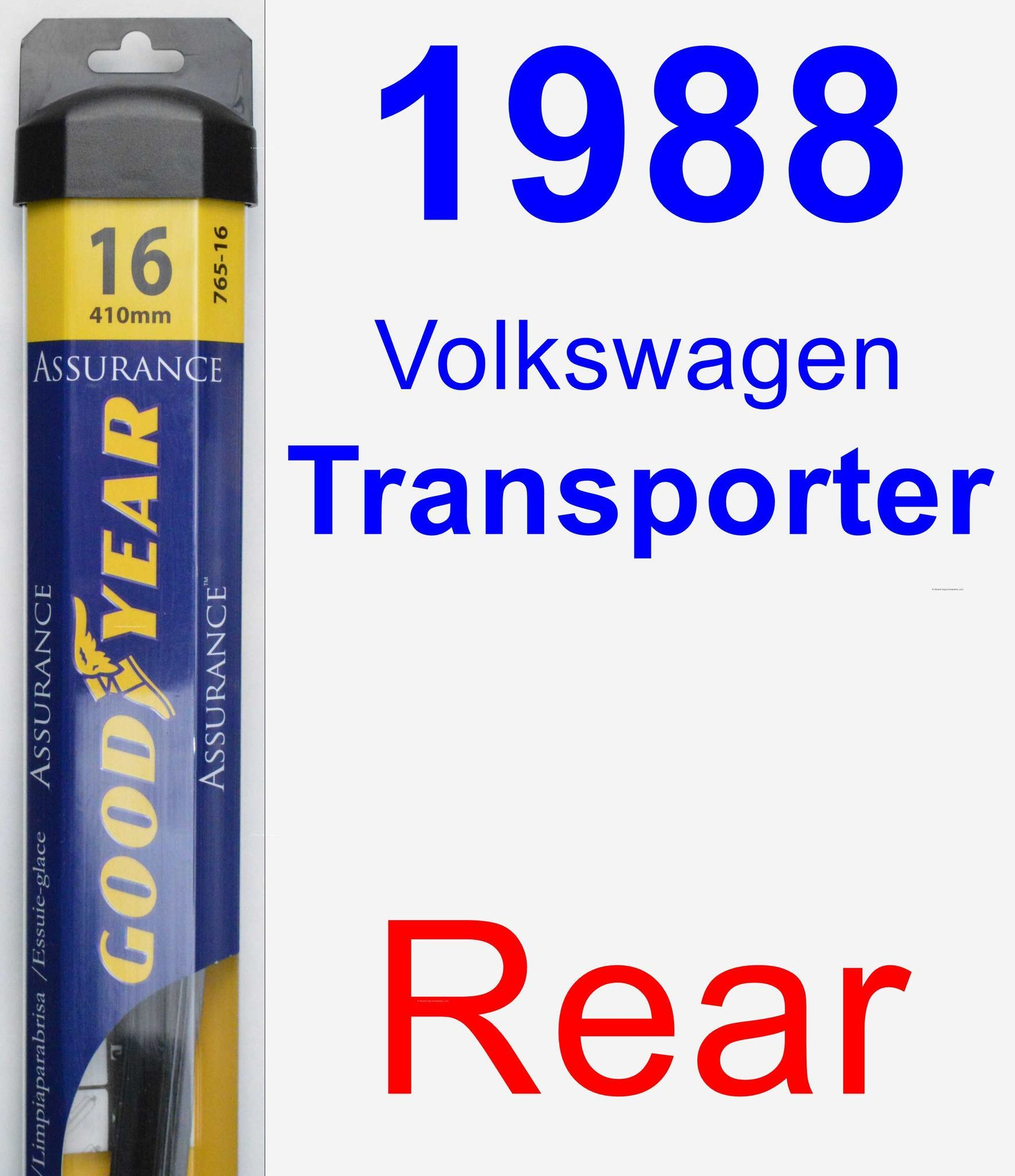 Rear Wiper Blade for 1988 Volkswagen Transporter - Assurance