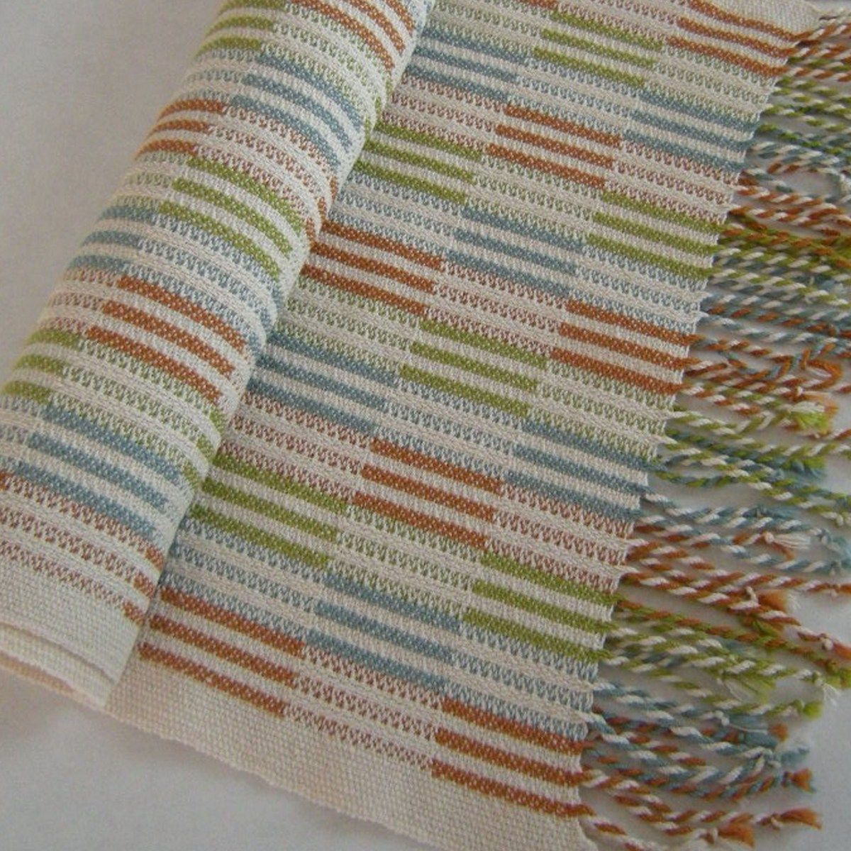 wonderful use of color in block twill