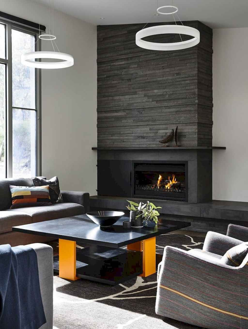 08 small fireplace makeover decor ideas  modern stone