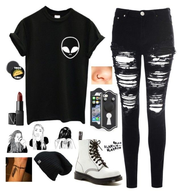 """Untitled #733"" by chill-outfits ❤ liked on Polyvore featuring Glamorous, Dr. Martens, Marc by Marc Jacobs, NARS Cosmetics, women's clothing, women, female, woman, misses and juniors"