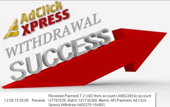 ACX is an online money making program that pays you daily with a minimum withdrawal amount of $5. Currently,  You can earn as much as 6% income on weekdays and 3% on weekends, a total of 150% ROI in your investment! If you are a PASSIVE INCOME SEEKER, then this is the best  ONLINE OPPORTUNITY for you. No scam here THE BEST   http://www.adclickxpress.com/?r=qaan3q3hhm9&p=mx