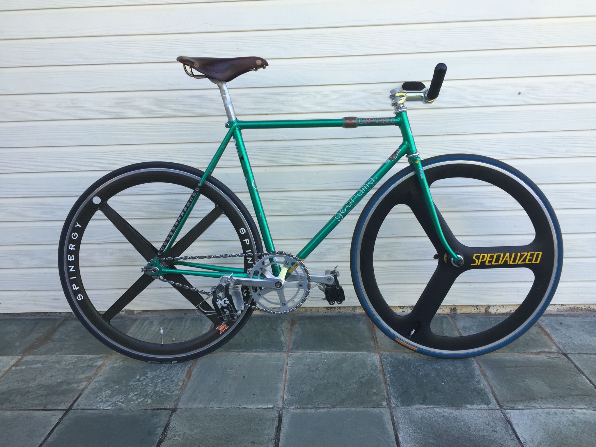 Georama NJS track bike. Brooks Professional saddle. Campagnolo ...
