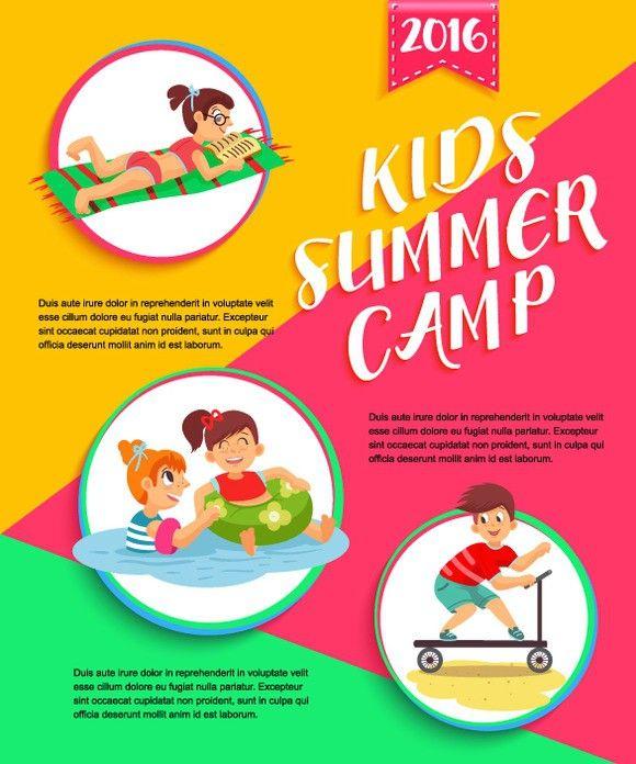 summer camp posters templates wwwpixsharkcom images