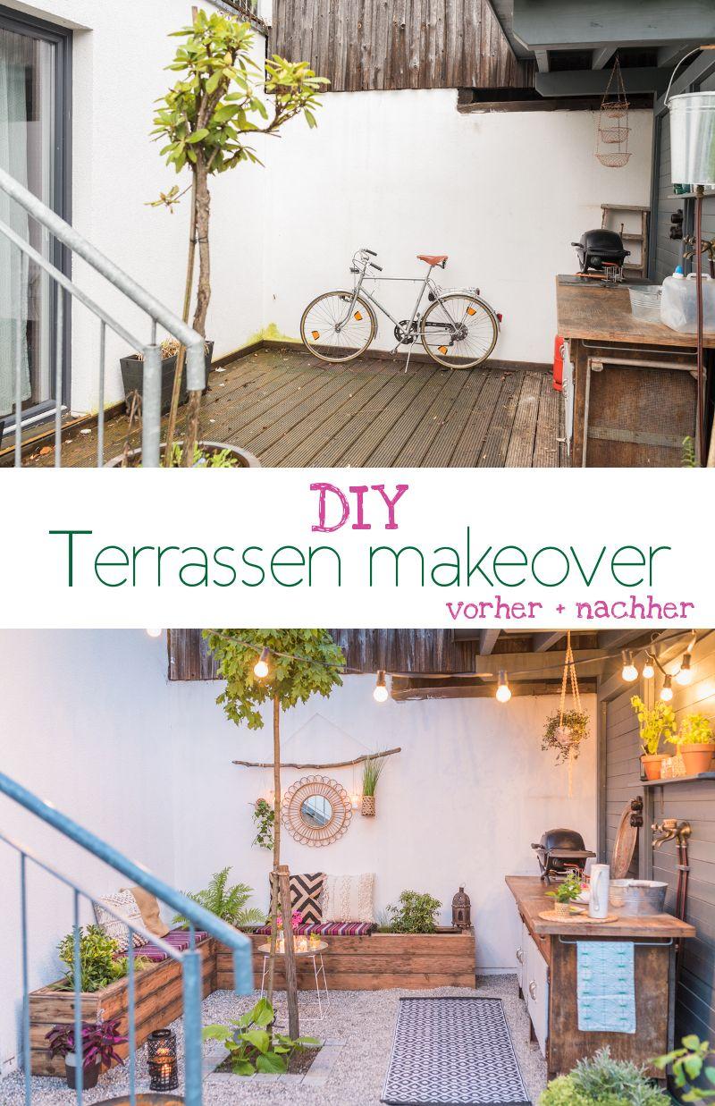 Upcycling Garten diy terrassen makeover vorher nachher teil 2 balconies patios