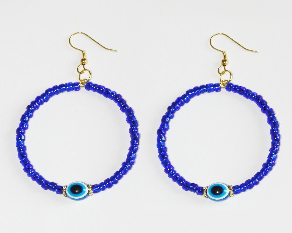 Evil eye earrings at chipina.com