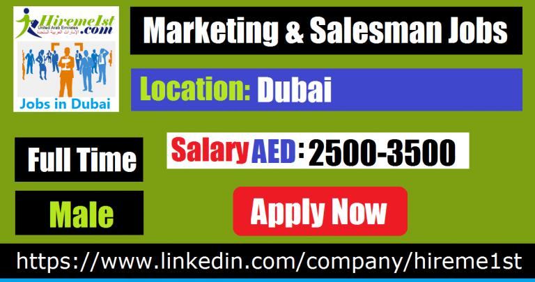 Marketing & Salesman Jobs in Dubai Executive jobs, Good
