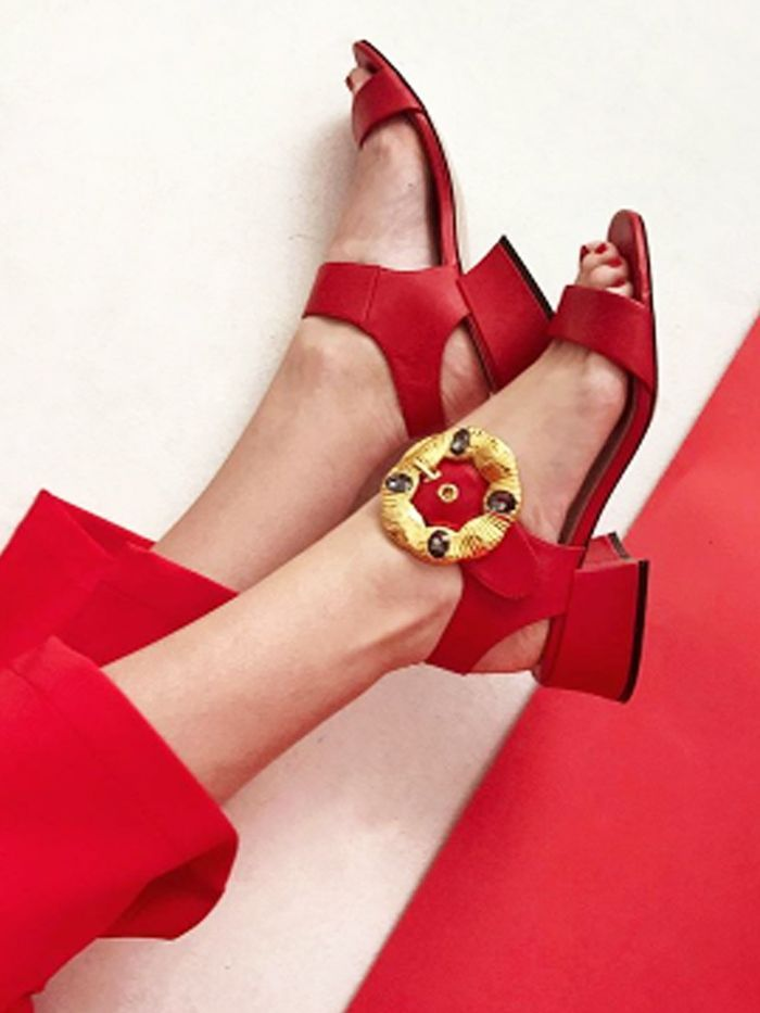 4c1835f2cd1912 Spring's Influencer-Approved Shoes All Ring In at Under £200   Red Scarlet/ Rojo Grenadine.Dori.   Shoes, Sandals 2018, Heels