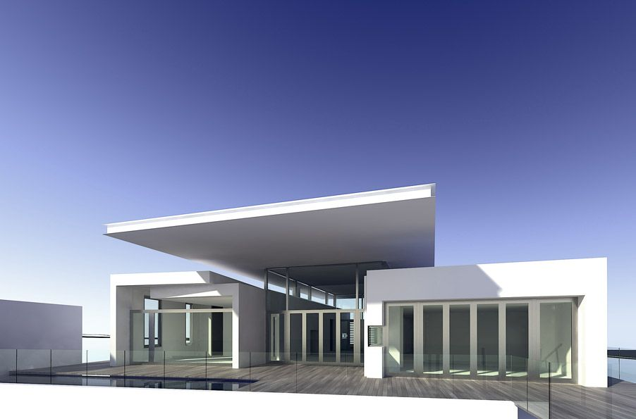 contemporary residential 3 story building modern minimalist home house design style - Minimalist Architecture Houses