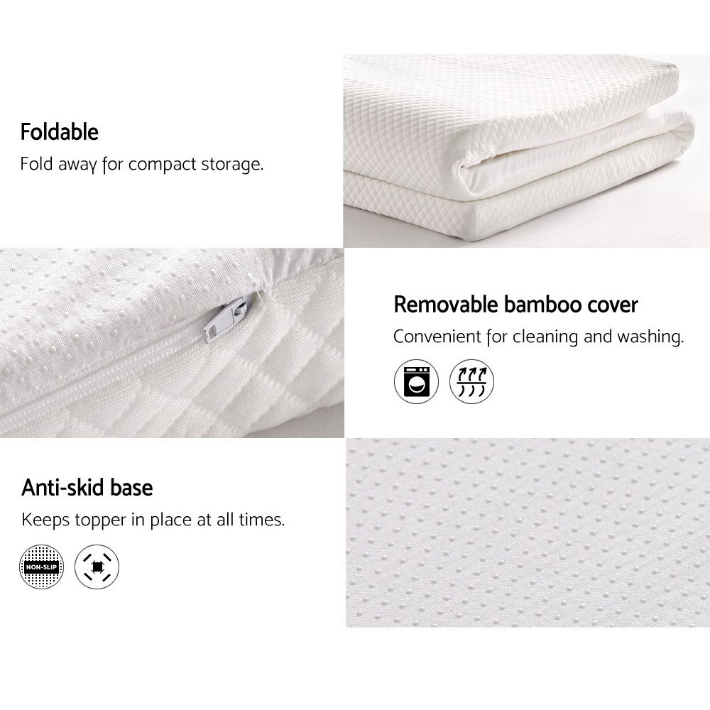 Zane Memory Foam Mattress Topper Online Only White Matt