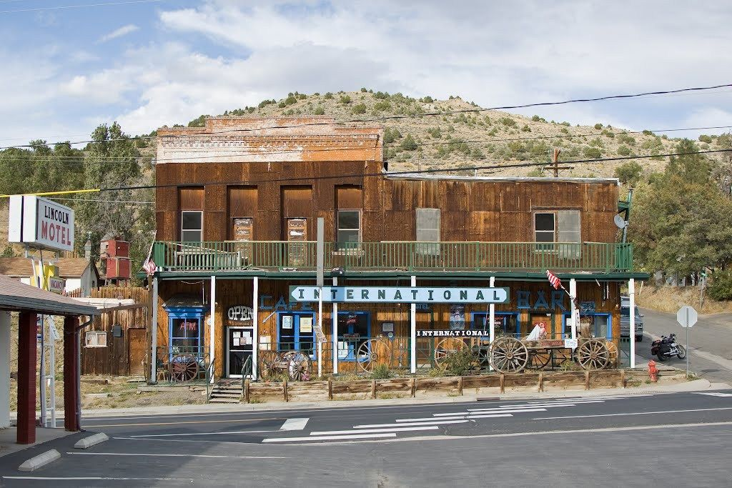 the front of the the International Cafe and Saloon Austin Nevada