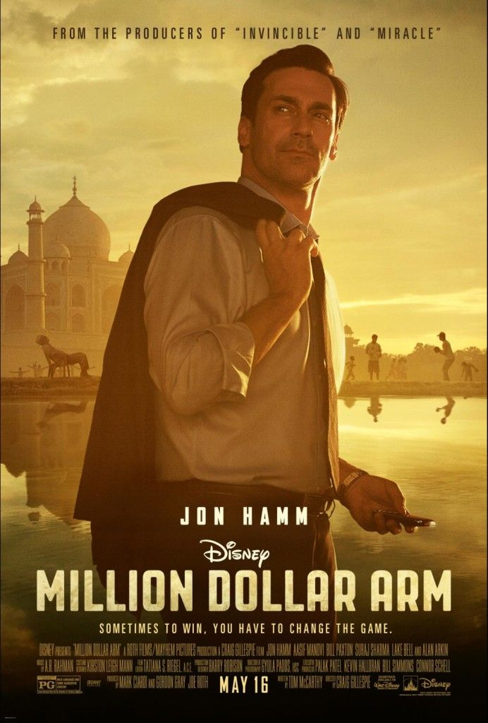 First Look At Disney S Million Dollar Arm Milliondollararm With Million Dollar Arm Disney Movie Posters Jon Hamm