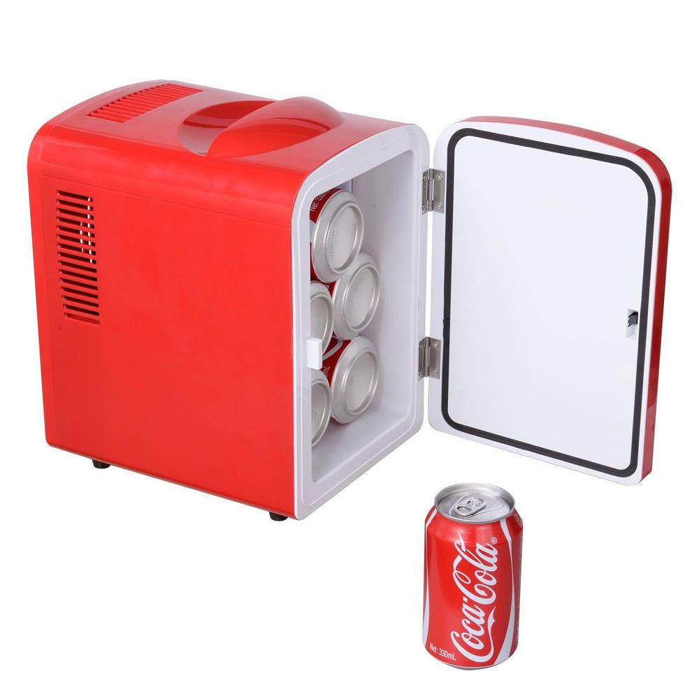 High Quality Portable Mini Fridge Cooler And Warmer Auto Car Boat Home Office AC U0026 DC  Red #
