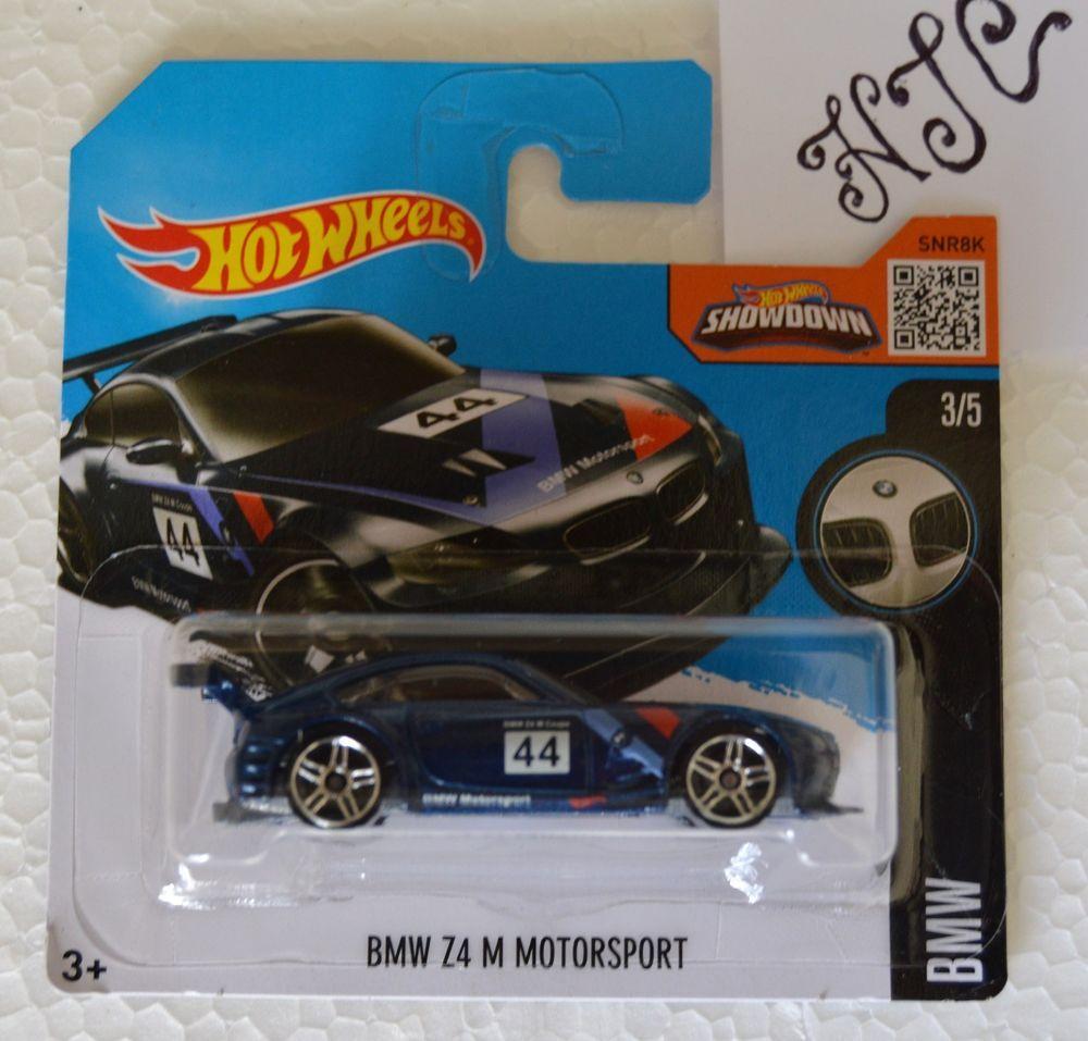 New Hot Wheels 2016 Bmw Z4 M Motorsport Sealed Short Card