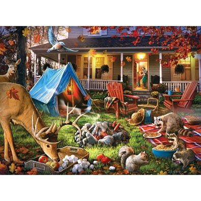 Getting Chilly Out 1000 Piece Jigsaw Puzzle Illustration