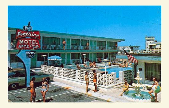 The Fontaine Motel Apts In Wildwood Beach New Jersey Ca 1970