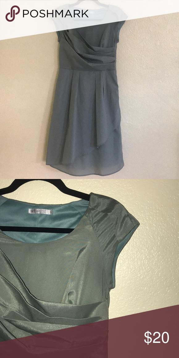 Mika rose green dress Nice modest dress. Sage green color Comes from a smoke free pet free home Mikarose Dresses Asymmetrical #sagegreendress