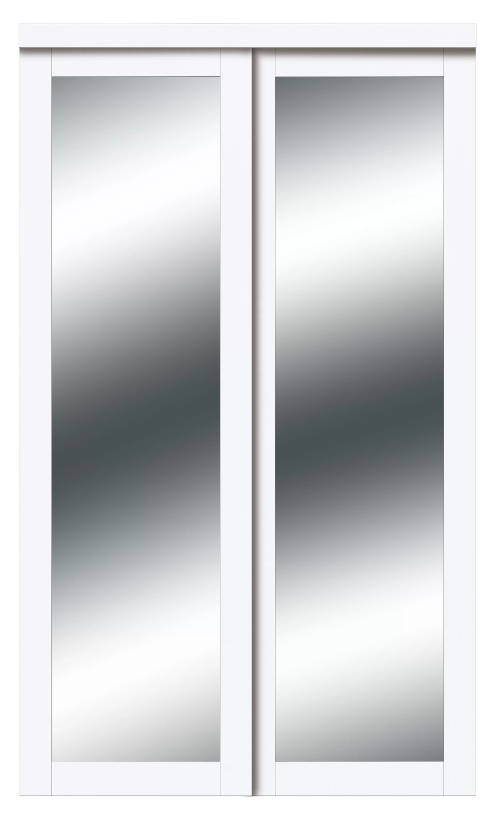 Harmony 1 Lite Mirrored Sliding Closet Door