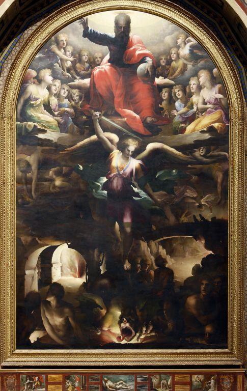Fall Ceiling Wallpaper Hd Beccafumi D Saint Michael The Archangel Banishing The