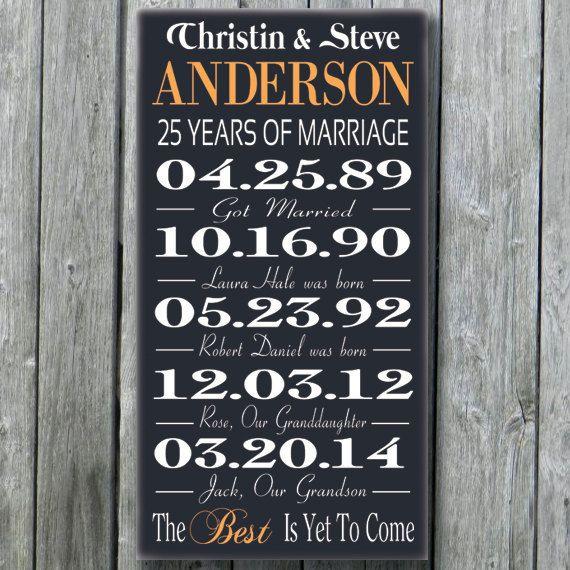 5th 15th 25th 50th anniversary by 25th wedding anniversary - 25th Wedding Anniversary Gifts