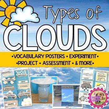 Types Of Clouds Activities By A Chocolate Dudley Teachers Pay Teachers In 2020 Cloud Activities Clouds Lesson 2nd Grade Activities