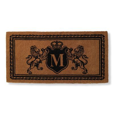 Lion Crest Monogram Door Mat There S No Place Like Home