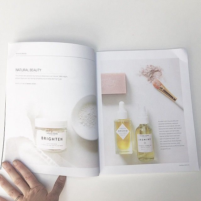 thank you to @thecoastaltable magazine for the article and beautiful photos!  #thecoastaltable #herbivorebotanicals