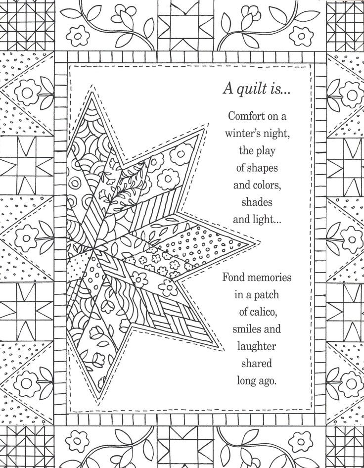 Amish Quilts and Quotes Adult Coloring Book Coloring