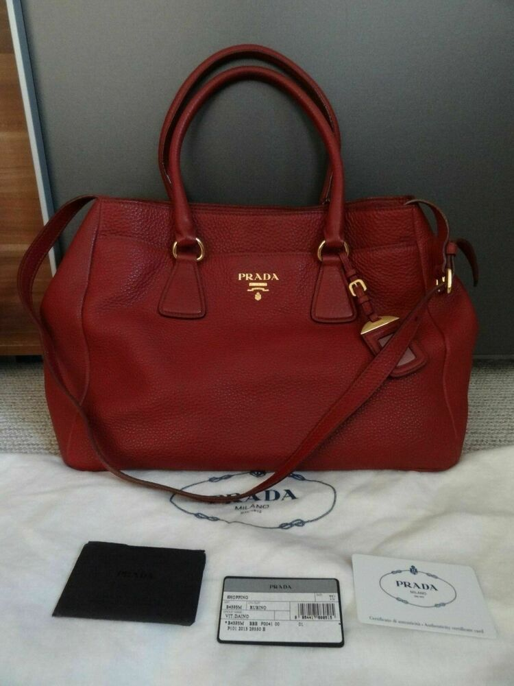 7ff23bb7cce2 Authentic Pre-owned PRADA Vitello Daino Large Shopping ToteShoulder Bag   fashion  clothing