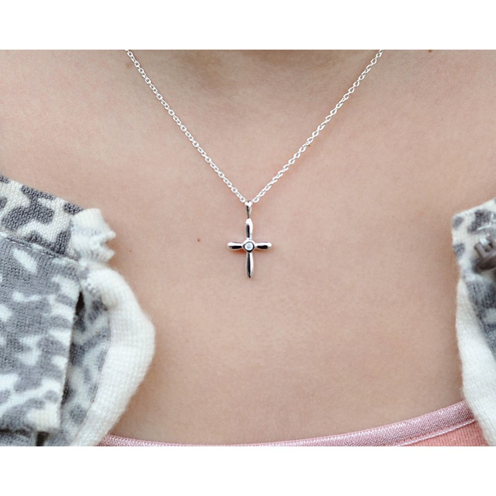 Beadifulbaby gorgeous first gifts babytoddlerchild diamond beadifulbaby gorgeous first gifts babytoddlerchild diamond and sterling silver cross christeningbaptism necklace chain included mozeypictures Images