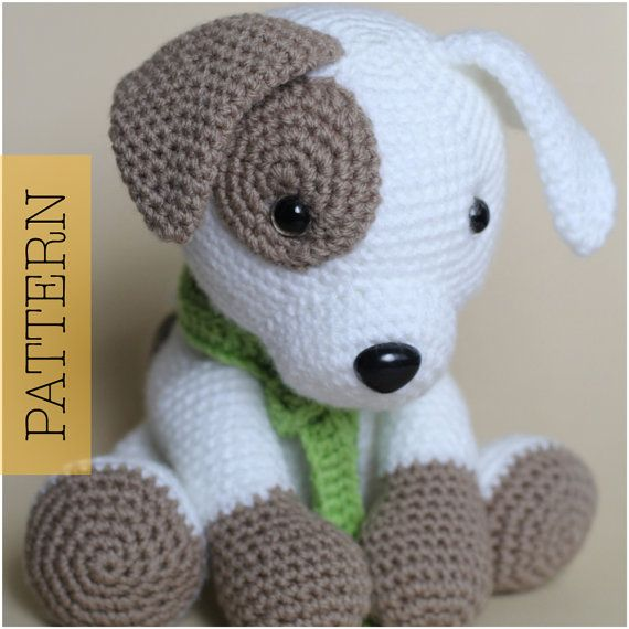 Amigurumi Crochet Puppy Pattern : Crochet Amigurumi Puppy Dog PATTERN ONLY Jack by ...