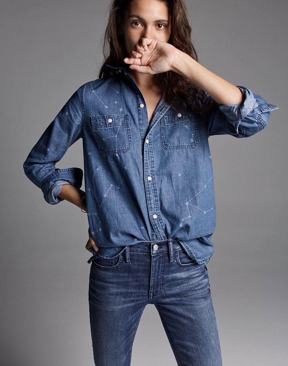 1bb9093493 madewell classic ex-boyfriend shirt worn with 9