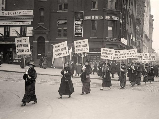 Marching Women Harris Ewing 1917 Women In History Suffrage Photo