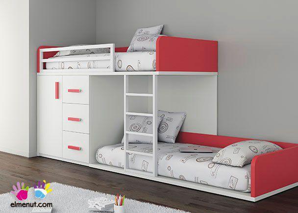 Habitaci n infantil con 2 camas tipo tren armario - Camas tipo tren ...