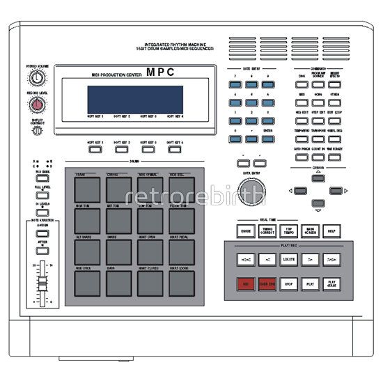 Akai Mpc 60 Sampler Best Drums Samplers Hip Hop