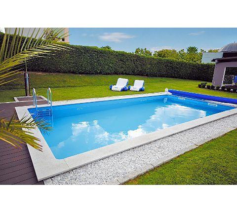 Kwad beckenset pool std 6 0x3 0x1 5m inkl leiter pool for Garten pool leiter