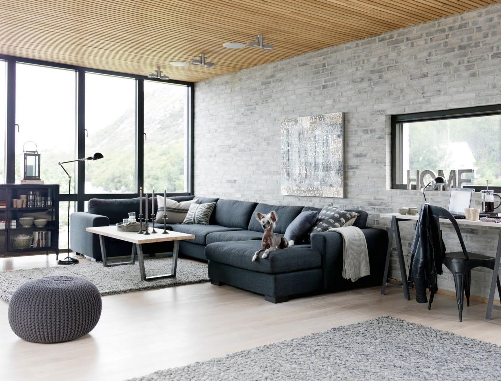 industrial modern living room design