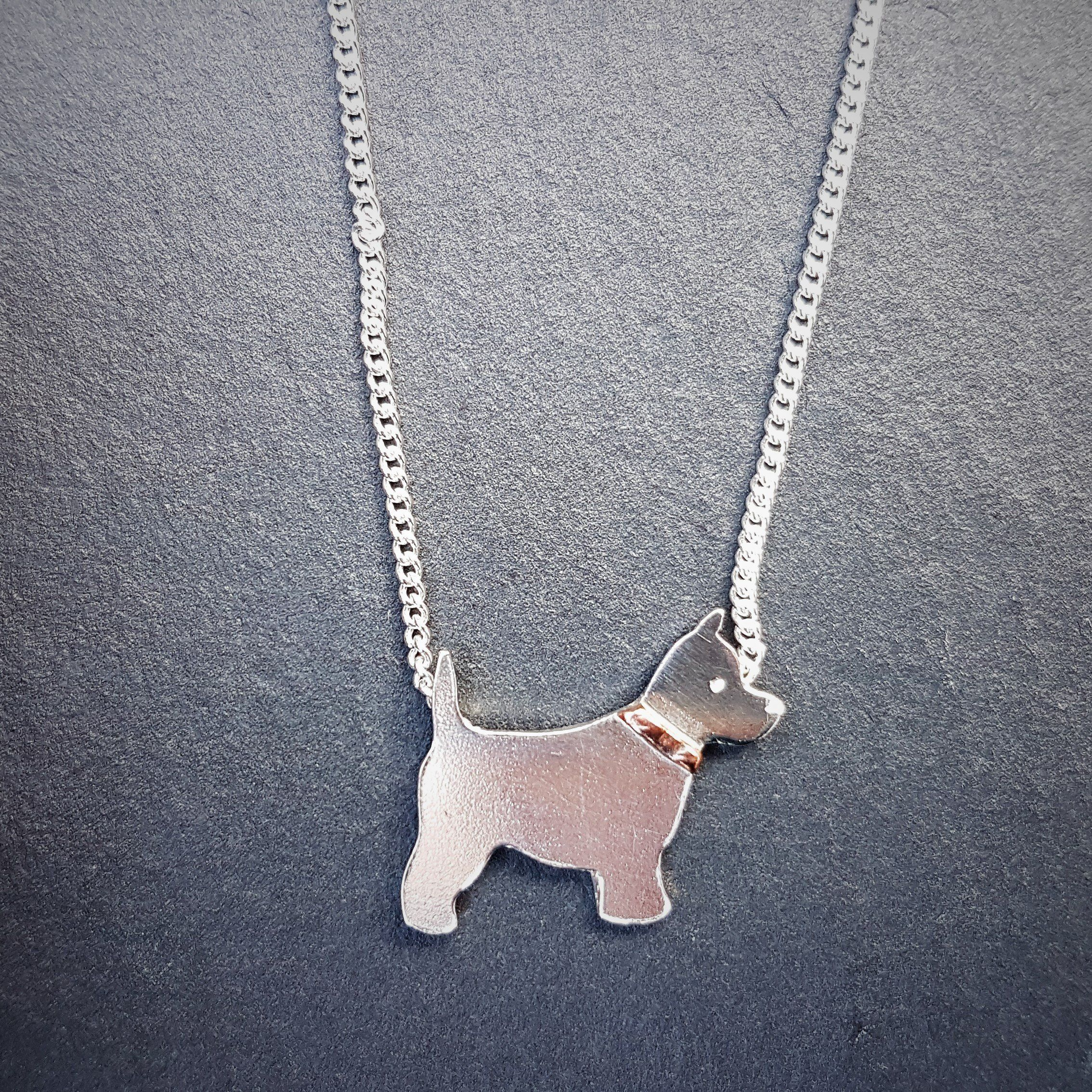 ENGLISH BULL TERRIER Pendant Necklace Collectable with 18 inch Chain Silver