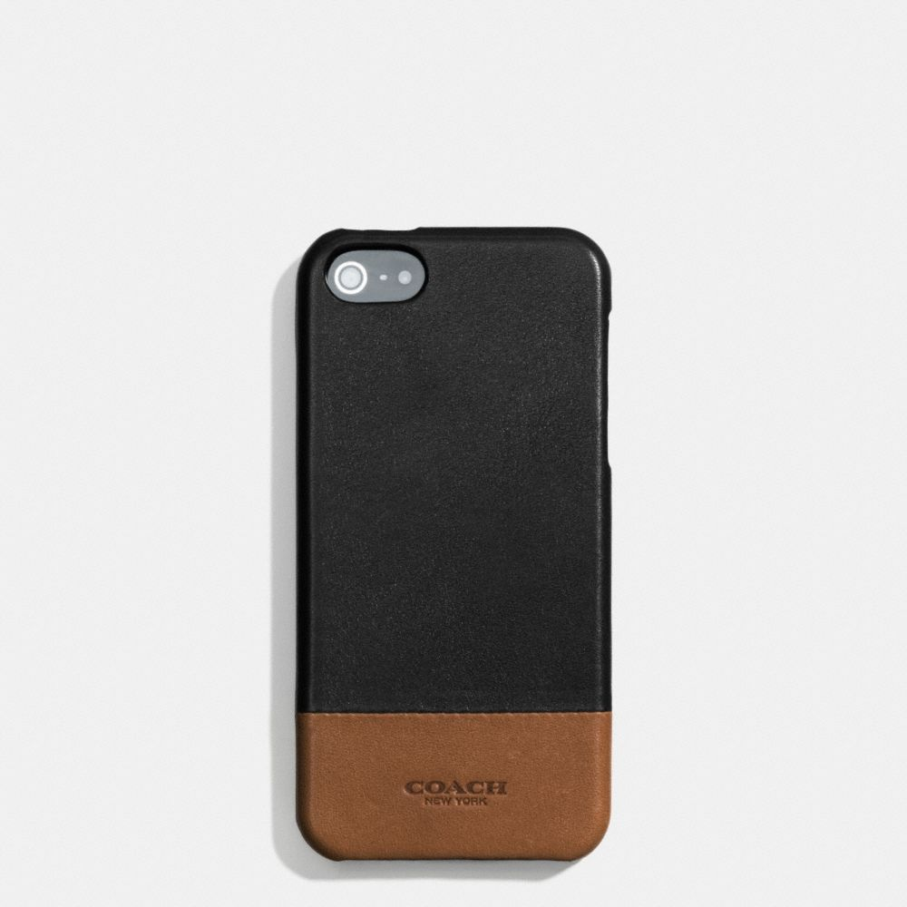 separation shoes 485e9 46ce6 Coach Men's The Bleecker Molded Iphone 5 Case In Colorblock Leather ...