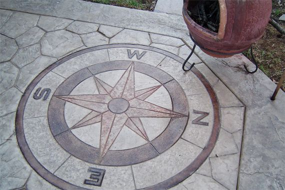 Pros And Cons Of Stamping Concrete Compass Design