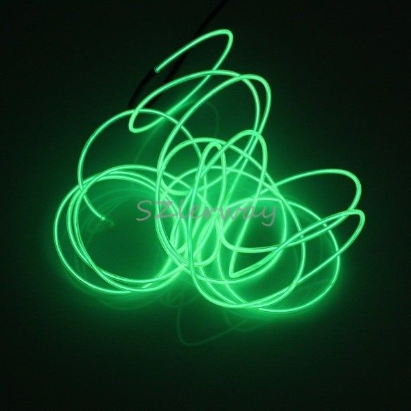 Green Led Light Strips New New 5M Rope Light Green Led Light Strip Lamp El Wire Cable For Inspiration Design