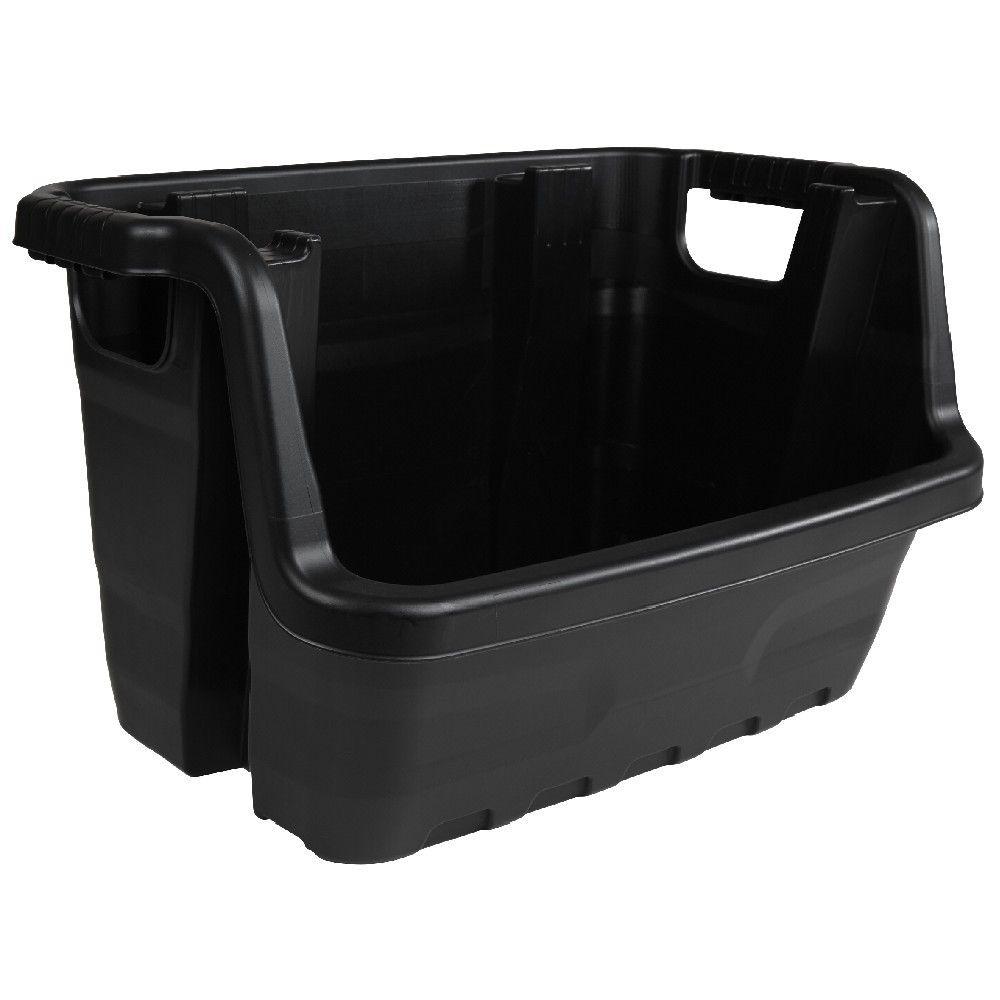 Bac Noir Empilable 50 L Boite Rangement Plastique Rangement Plastique Box De Rangement