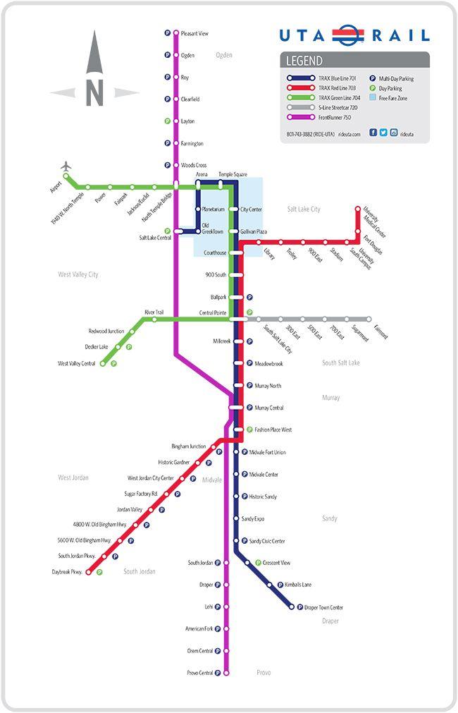 Utah Trax Map Car Free: Fun on the Trax Line | Salt Lake City Blog | Love to