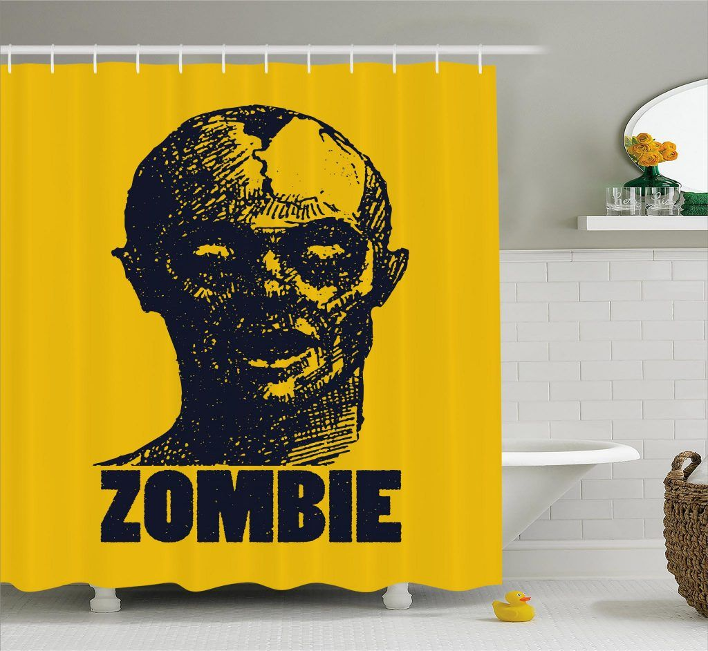 Dead Man Portrait Shower Curtain Curtains Curtain Store Horror