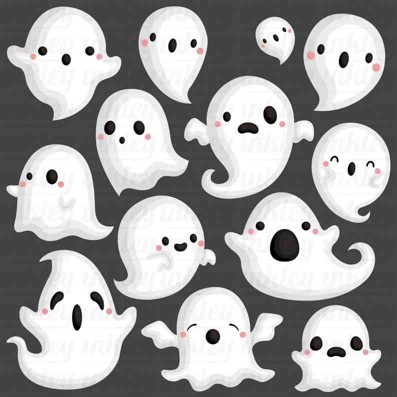 48++ Cute ghost clipart black and white info