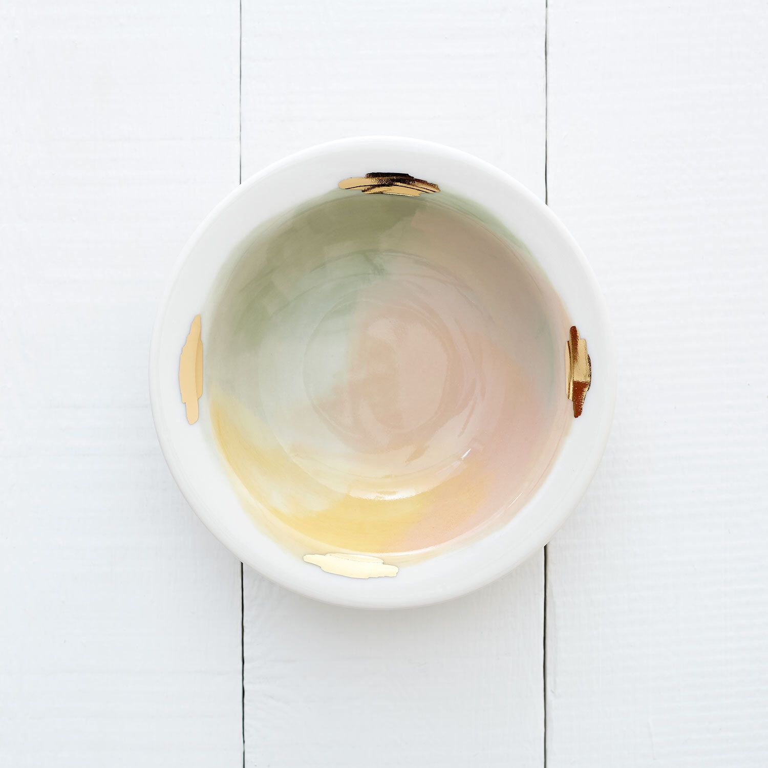 Denali Porcelain Bowl // Handpainted Organic Bowl in Pink, Yellow, and Mint Green // Perfect for an Organic Modern Kitchen by redravenstudios on Etsy https://www.etsy.com/listing/243796792/denali-porcelain-bowl-handpainted