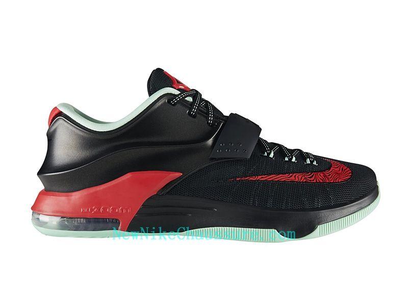 pretty nice 482f0 33543 Nike KD 7 Bad Apple - Chaussure De Basket-ball pour Homme Pas Cher Noir  Rouge-653996-063 - Boutique Nike, Nike Baskets Pas Cher en Ligne