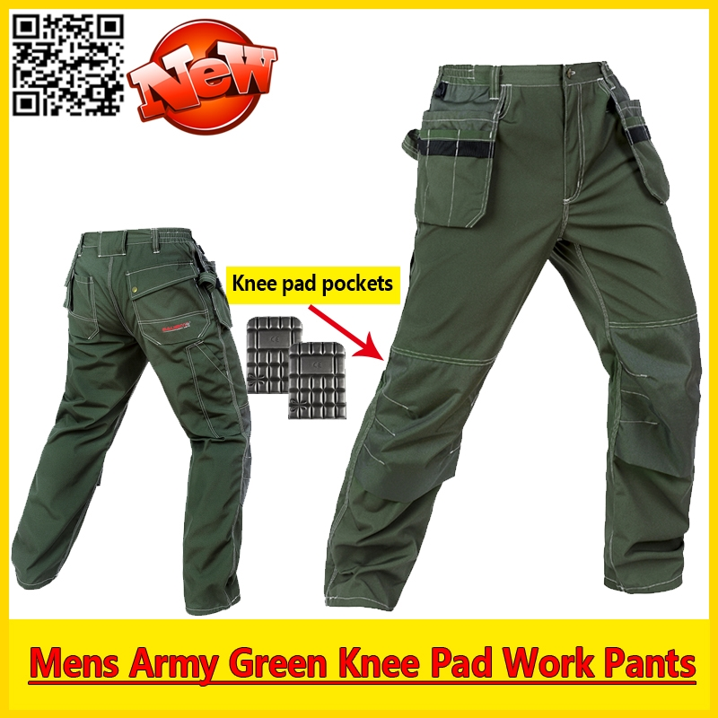 59.00$  Watch here - http://alilgh.worldwells.pw/go.php?t=32603208140 - Mens workwear EVA knee pad work pant mechanic green work pants  working wear trousers free shipping