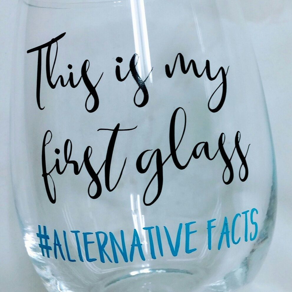 Glasses Quotes: Funny Saying Stemless Wine Glass-Political Humor