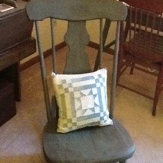 Rocking chair using country living paints.  furniture  Pinterest ...