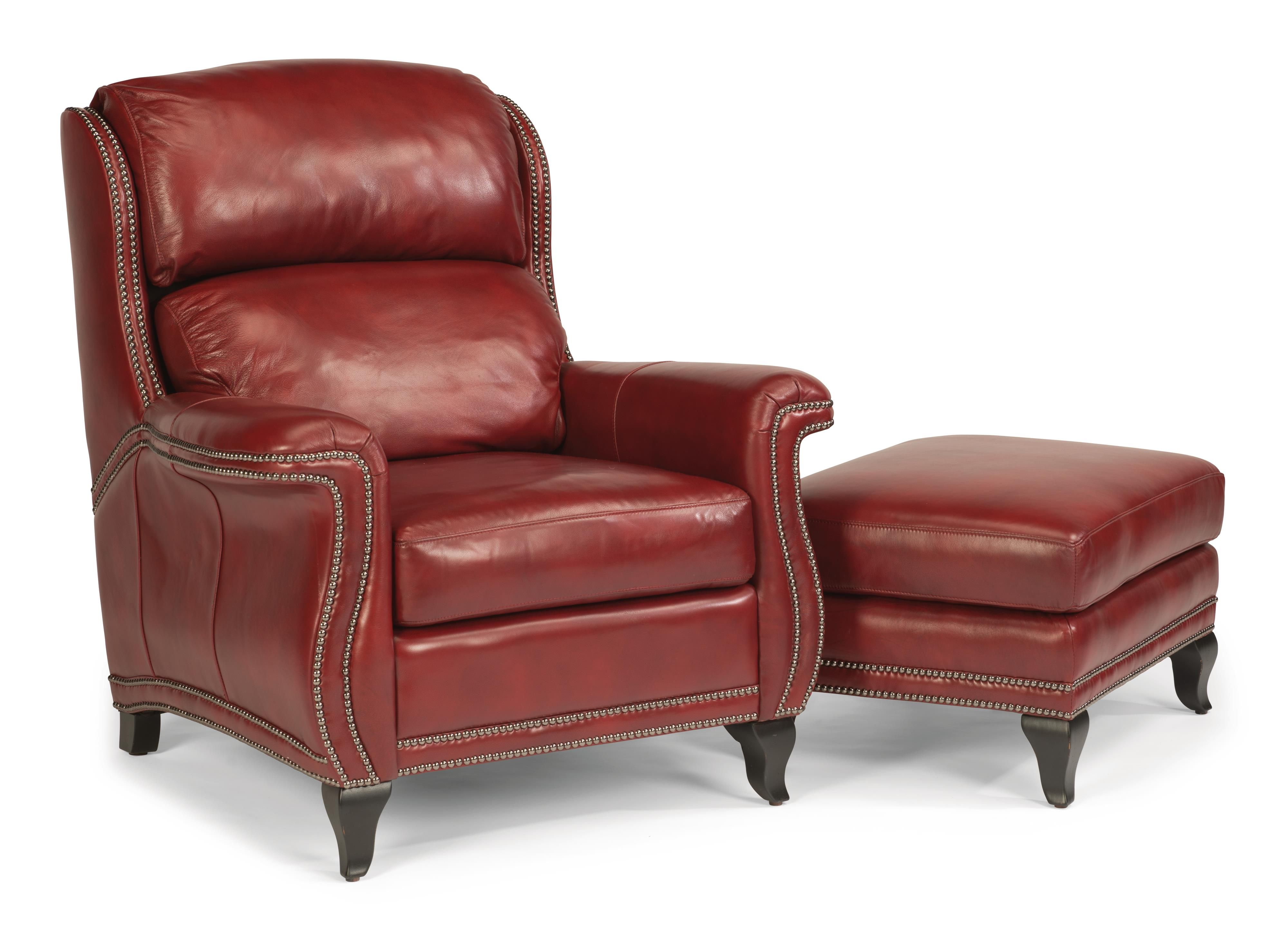 flexsteel at godby Red leather chair, American home